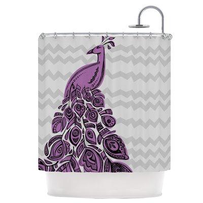 East Urban Home Peacock Purple Single Shower Curtain Pink Shower