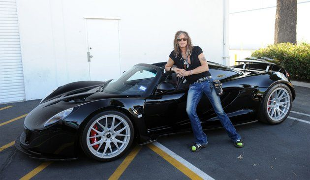 The world's fastest 1,244 HP convertible.  Steven Tyler's $1,100,000.00 Hennessey Venom GT Spyder will accelerate to 200mph in 15.9 seconds, eight seconds faster than a Bugatti Veyron.