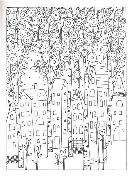 Fanciful Folk Art Coloring Book by Karla Gerard Coloring Pages