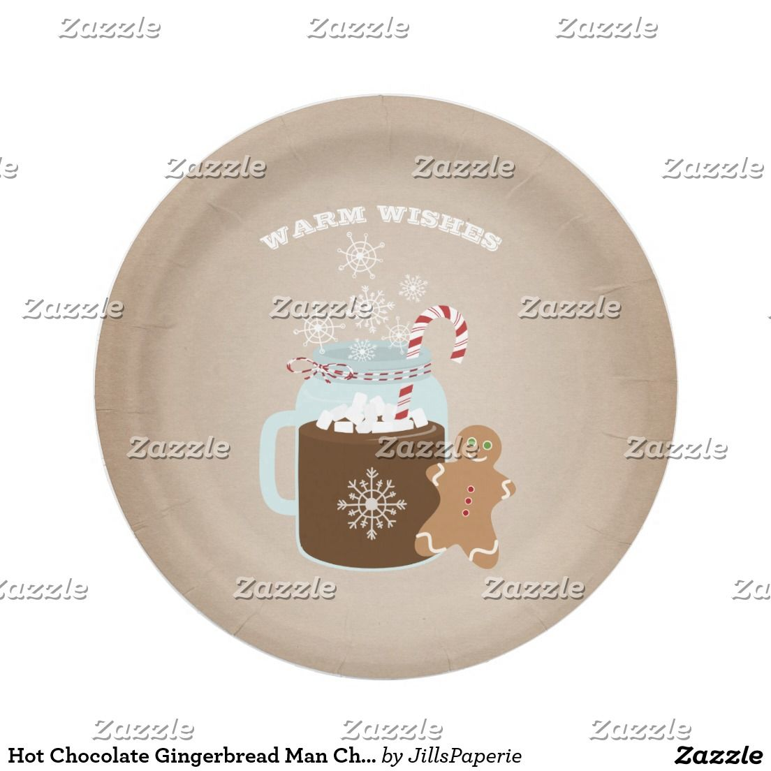 Hot Chocolate Gingerbread Man Christmas Paper Plate  sc 1 st  Pinterest & Hot Chocolate Gingerbread Man Christmas Paper Plate | Christmas ...
