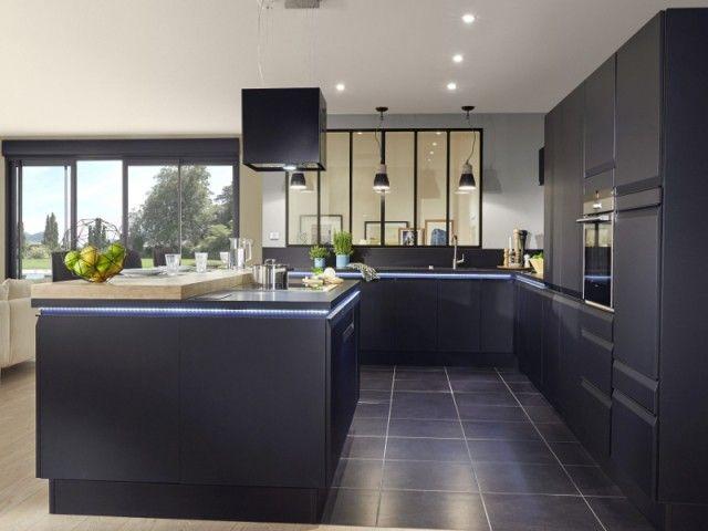 Du noir pour la cuisine, c\u0027est tendance Cuisine, Fils et Interieur - Cuisine Exterieur Leroy Merlin