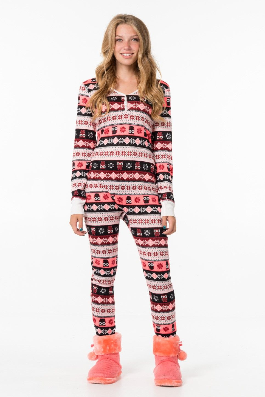 afce15763a Beet   pink print owl onesie - PJs   Robes - Clothing