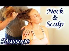 How to Massage Neck & Scalp for Upper Back Pain & Headaches, Relaxing Tutorial, Therapy Techniques Robert Gardner teaches massage techniques for the upper back, neck and scalp using an ordinary chair that anyone might have in their home. This video can teach you how to massage a friend or co-worker's shoulders to relieve pain and stress. This is a very relaxing video that can help you fall asleep with beautiful massage music and may have Soft Spoken ASMR effects.