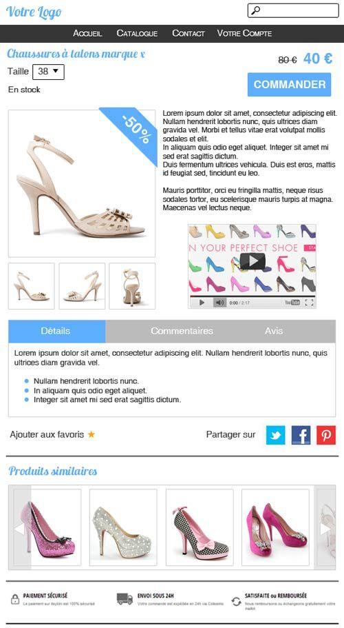 Anatomie d\'une fiche produit réussie #ficheproduit #ecommerce #Vad ...