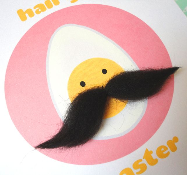 Happy Easter - Hairy Easter Egg Greetings Card Folksy.com
