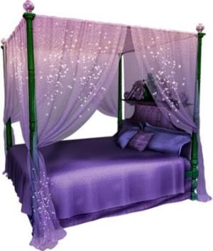 Magical Purple Canopy Bed Set  sc 1 st  Pinterest : purple canopy bed - memphite.com