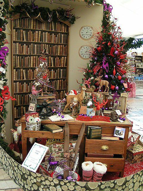 Santa's Study display at Baytree Garden Centre Christmas