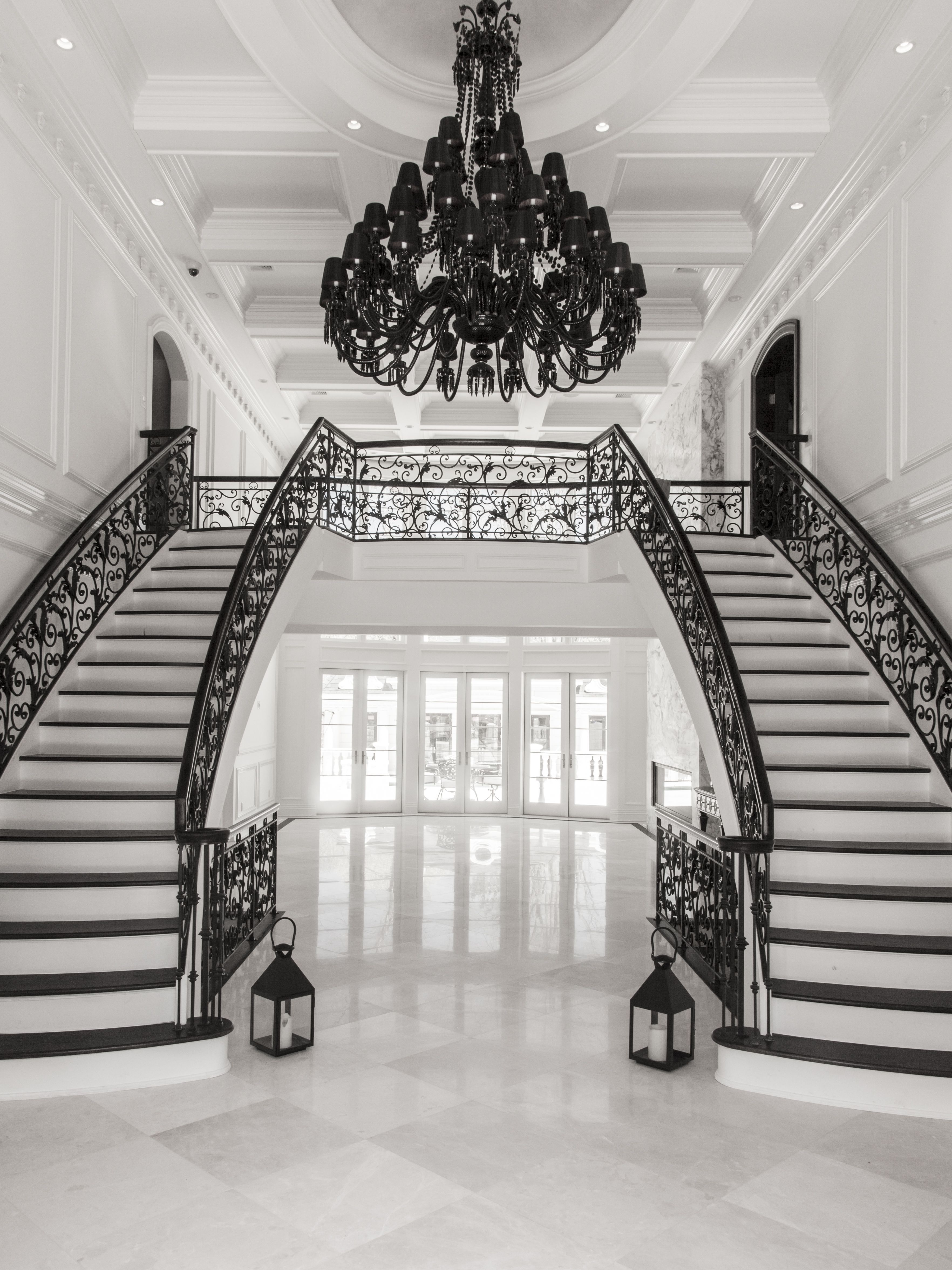 Best Foyer Design Juniper Drive A Grand Double Staircase With 640 x 480