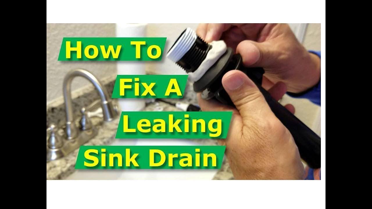 How To Fix Bathroom Sink Drain Leaks Underneath Gasket Threads Solved Youtube Sink Drain Bathroom Sink Drain Bathroom Sink
