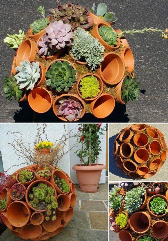 Cool DIY Garden Globes Make Your Garden More Interesting #gardencraft