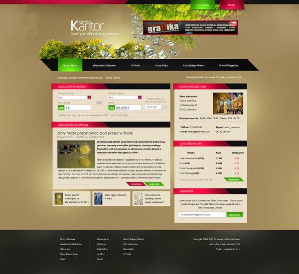 Kantor - web design | Tasty web designs | Pinterest | Иконки ...