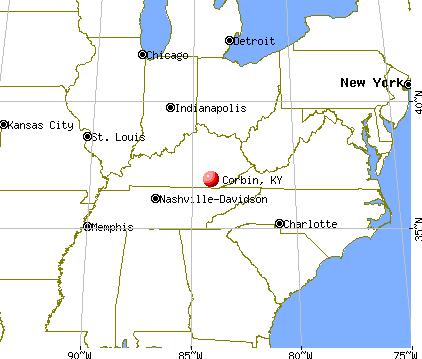 Corbin, Kentucky map | Kentucky | Kentucky, Ohio, Transport ...