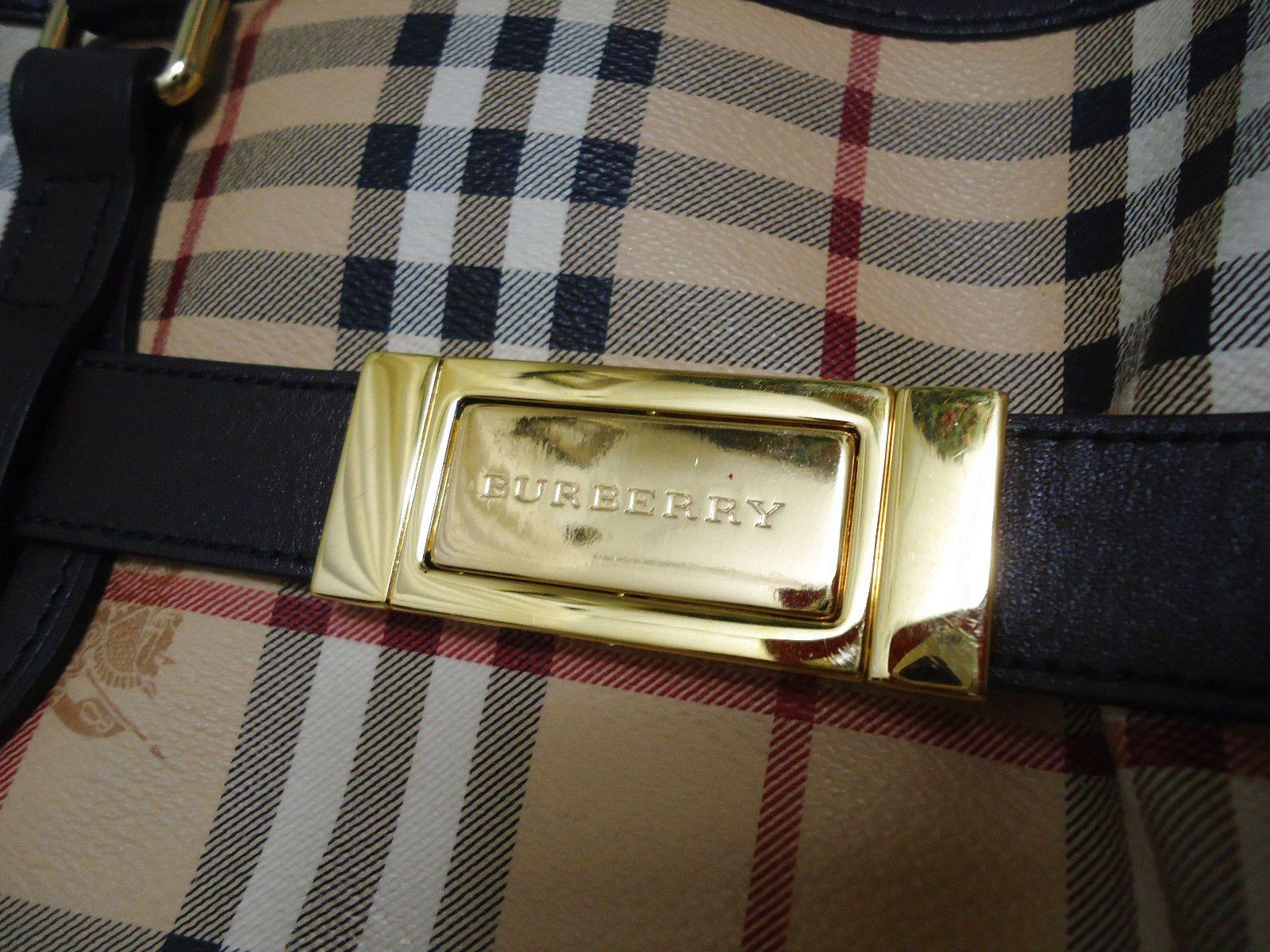 fd571a4008e7 BURBERRY Haymarket Check Medium Golderton Tote  570.0