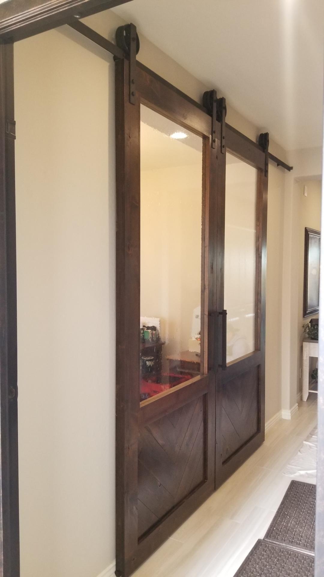 16++ Double barn doors glass trends