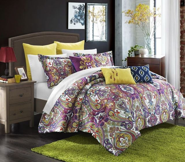 Purple Paisley Comforters Bedding Sets Comforter Sets Living