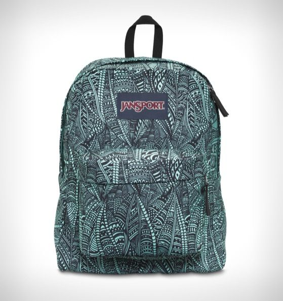 JanSport Superbreak Backpack Aqua Dash Scribbled Ink - Rushfaster ...