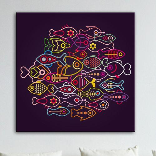 Un tableau d coratif au graphisme color la d coration - Tableau decoratif design ...