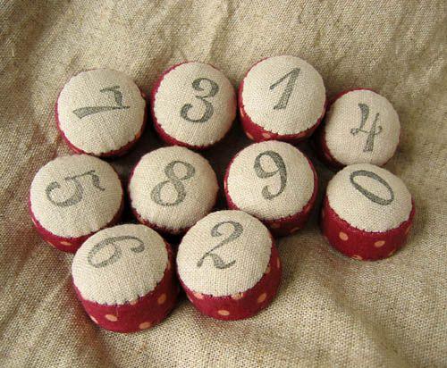 pincushion - numbers