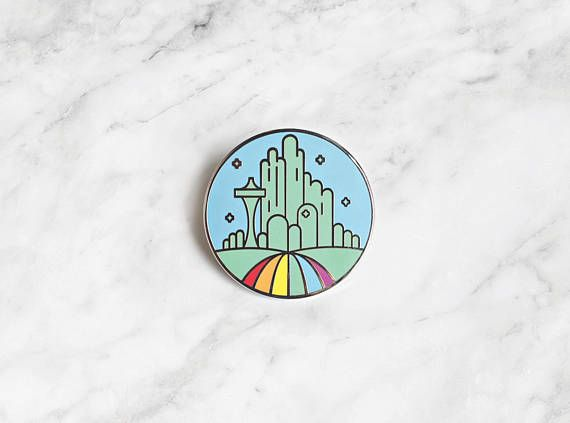 Emerald CIty Pride Enamel Pin