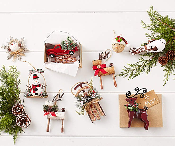Rustic Ornament Collection At Big Lots