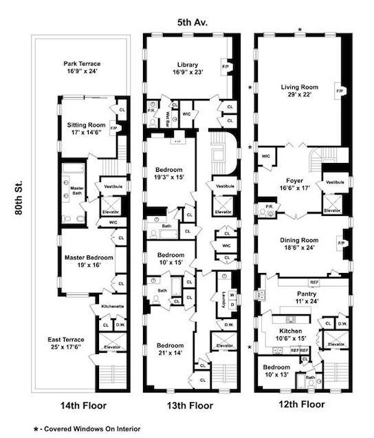 990 fifth avenue 544 637 luxurious for Panic room plans