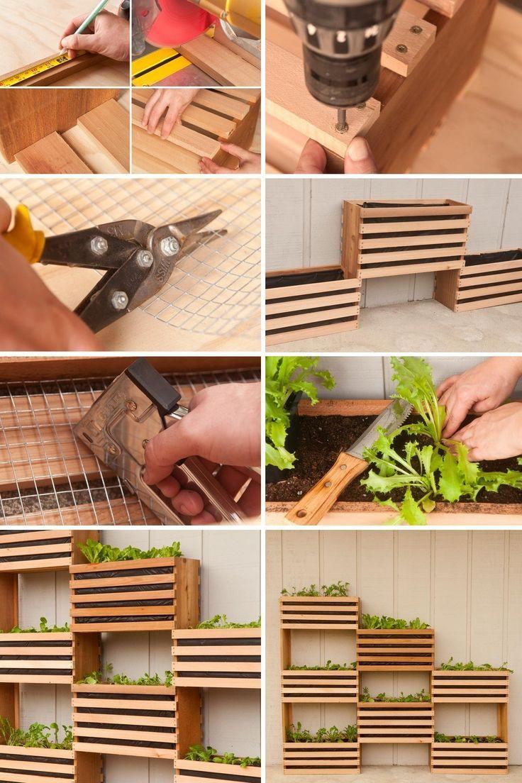 Diy Vertical Garden For Small Spaces Vertical Vegetable Gardens