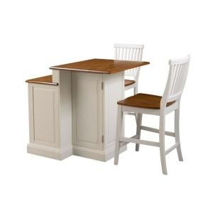 Kitchen Island Home Depot Corner Storage Styles Woodbridge White With Seating Family Two Tier In Oak Top And Stools 5010 948 At The Mobile