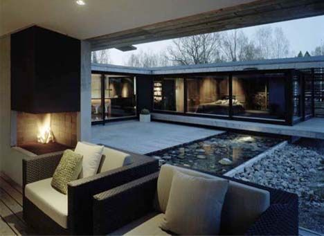 Zen Homes beautiful home - designedwrb architects, sits outside of