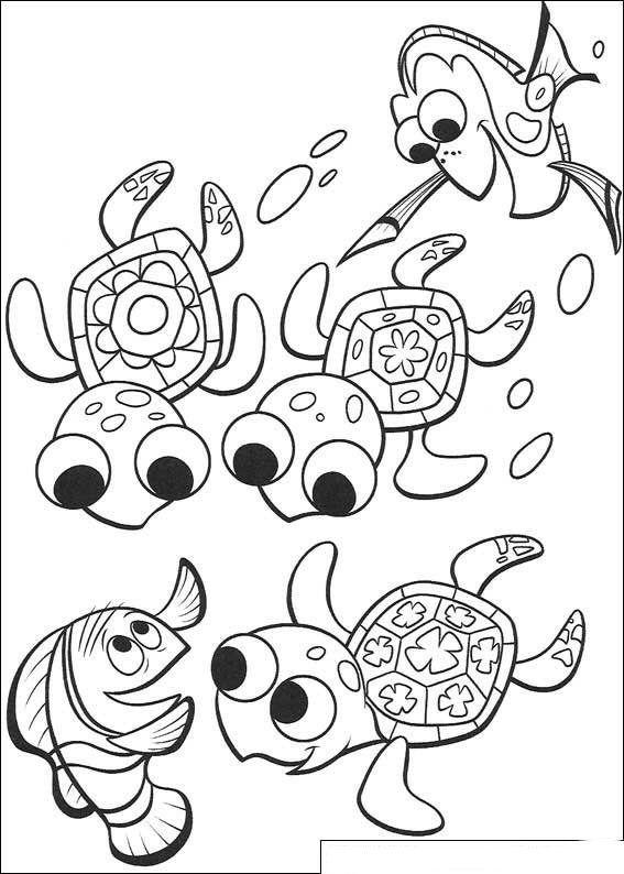 Kleurplaat Finding Nemo De Film Nemo En Z N Vriendjes