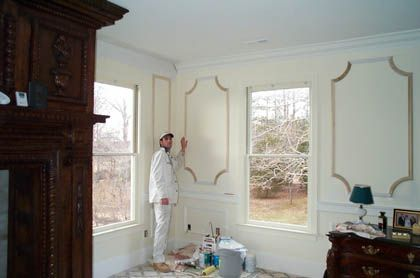Picture Frame Moulding On Walls frame molding in bedroom - google search | for the home