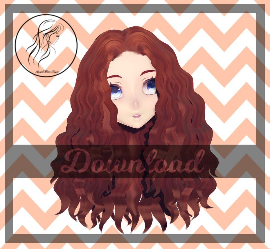 Mmd Wavy Hair Dl By Applewatersugardeviantartcom On