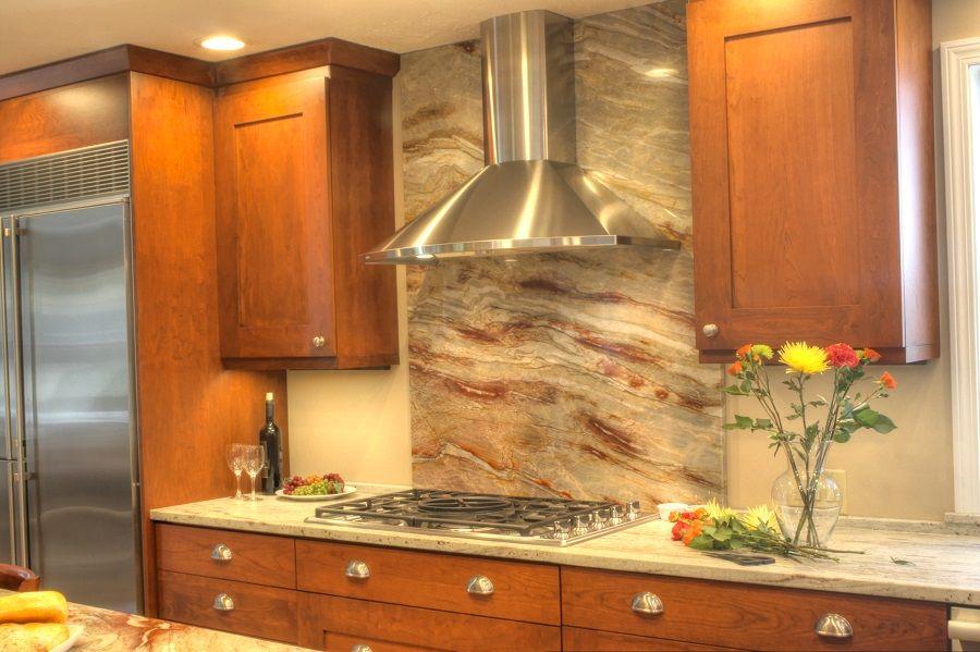 Backsplash ideas full height granite backsplash behind - Ideas for backsplash behind stove ...
