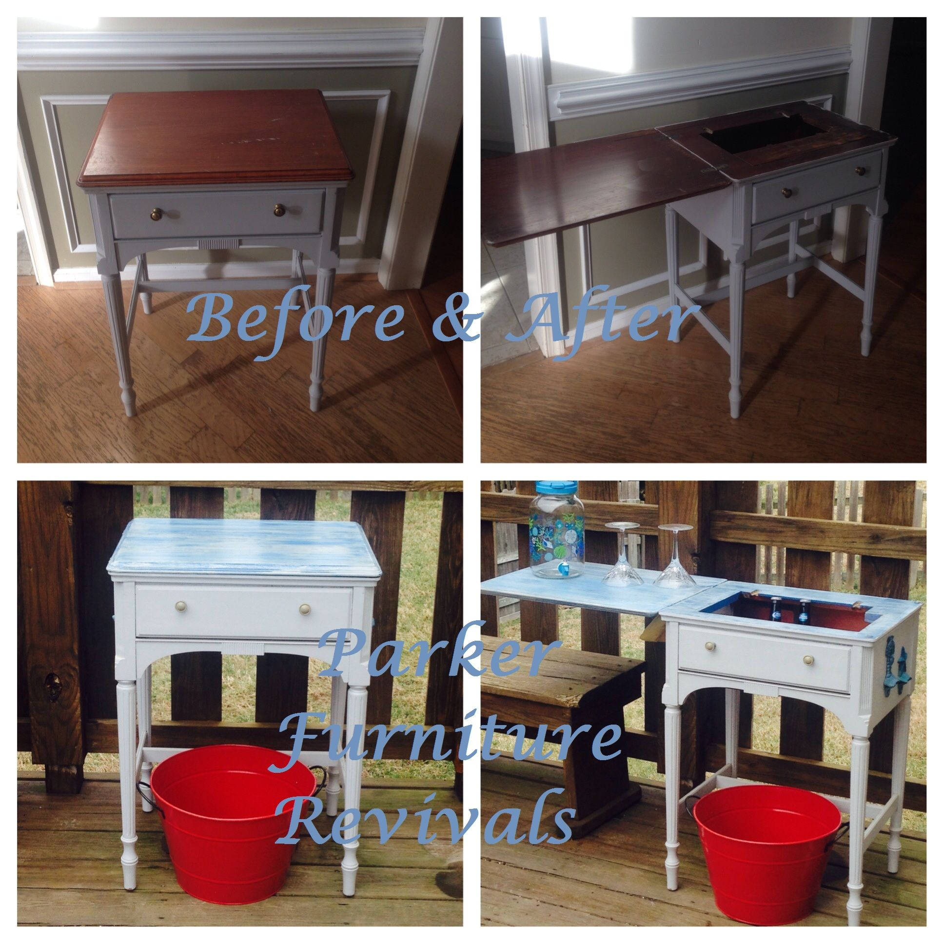 Upcycled Kitchen Cabinets: Before & After - Upcycled Sewing Cabinet