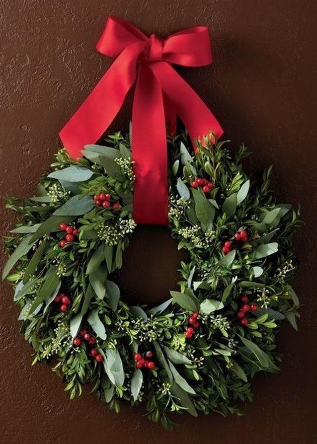 Photo of Beautiful Christmas wreaths for front door