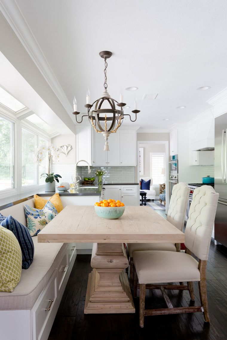 Blackband Design Transitional Dining Room Banquette Seating In
