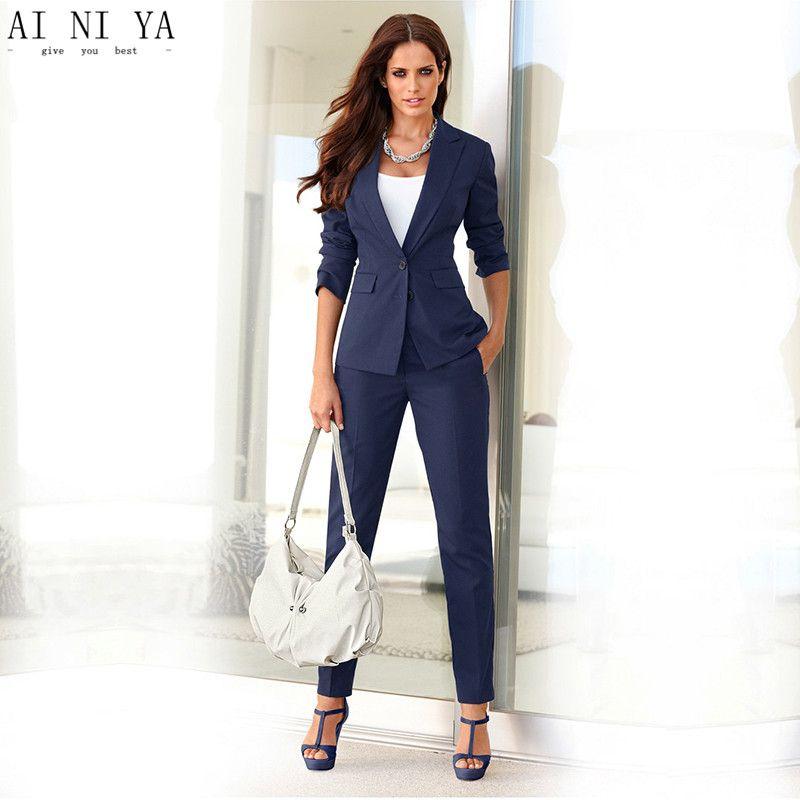 132e8437a09 Find More Pant Suits Information about Women Pant Suits Formal Ladies Office  Business Suits Slim Fit