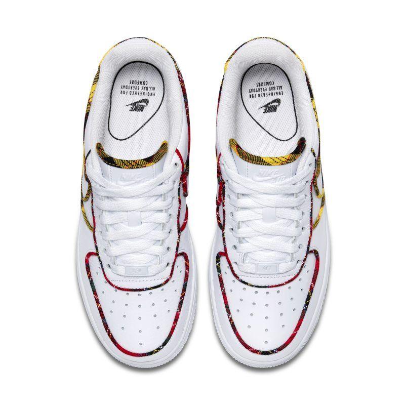 size 40 cfd4a 2408e Nike Air Force 1 Low Tartan Womens Shoe - White