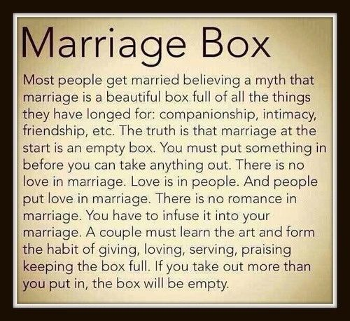 Marriage Box Poem - Google Search