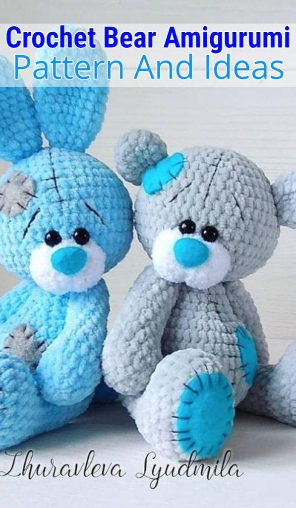 Free Crochet Bear Patterns – Amigurumi Patterns #crochetbear