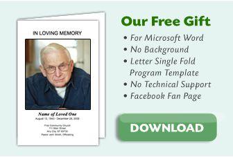 Free Funeral Program Template  Funeral Program