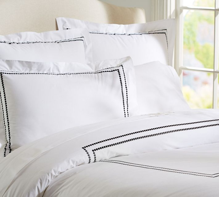Decor Look Alikes Pottery Barn Pearl Embroidered Duvet