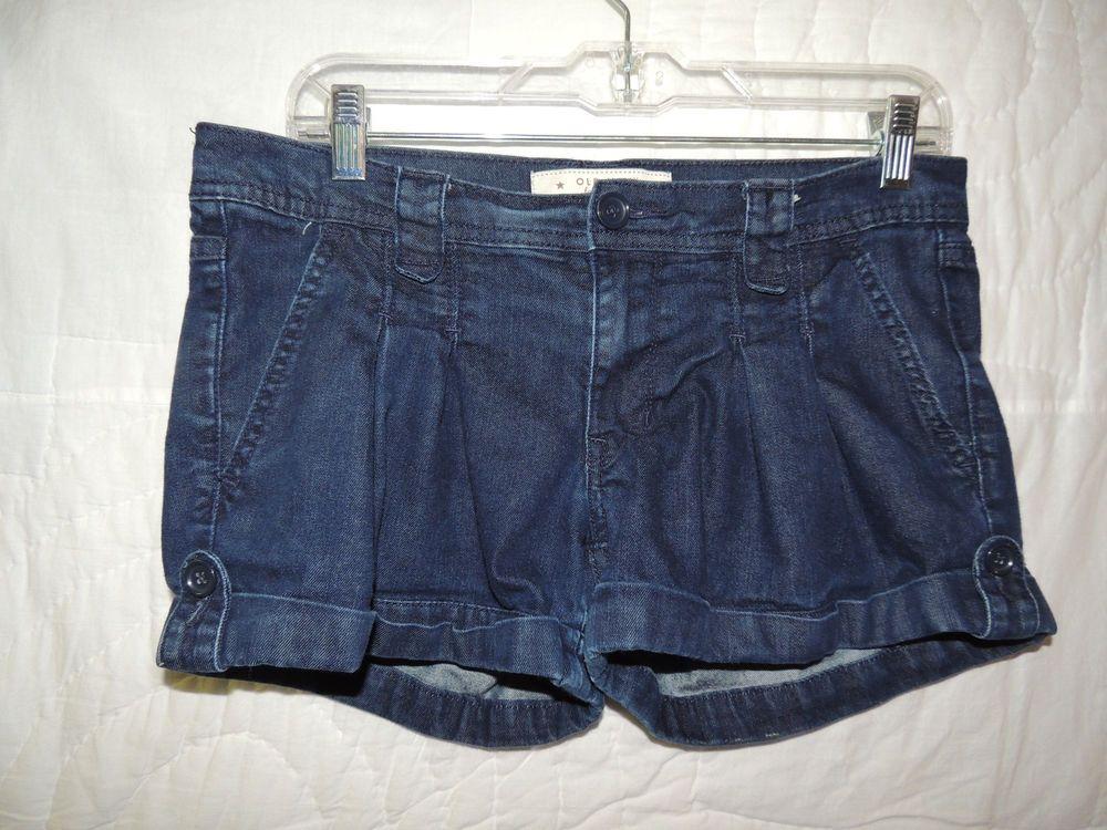 Old Navy Women's 4 PKT Dark Wash Stretch Denim Mini Blue Jeans Shorts~Size 8 HOT #OldNavy #MiniShortShorts