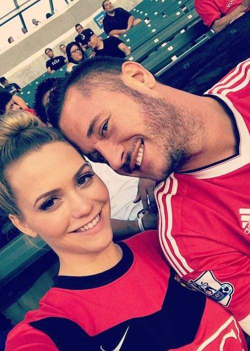 Mia Malkova And Danny Mountain At A Football Game Between La Galaxy And Manchester United In July