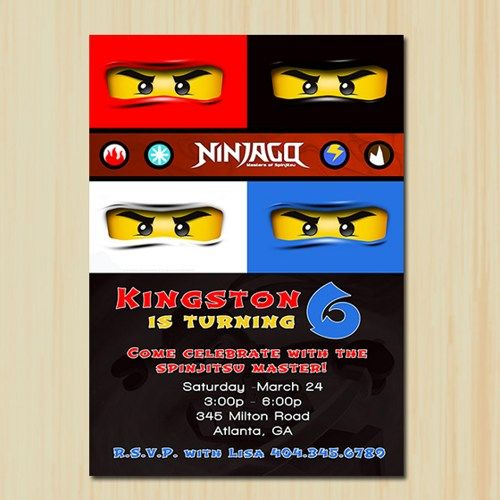 Ninjago Birthday Invitation