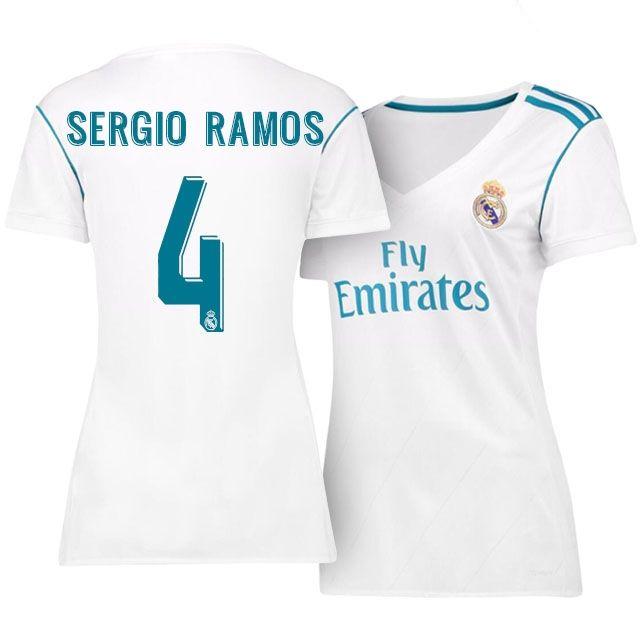 29729a0f4 Real Madrid Jersey 17-18 sergio ramos Home Women Shirt