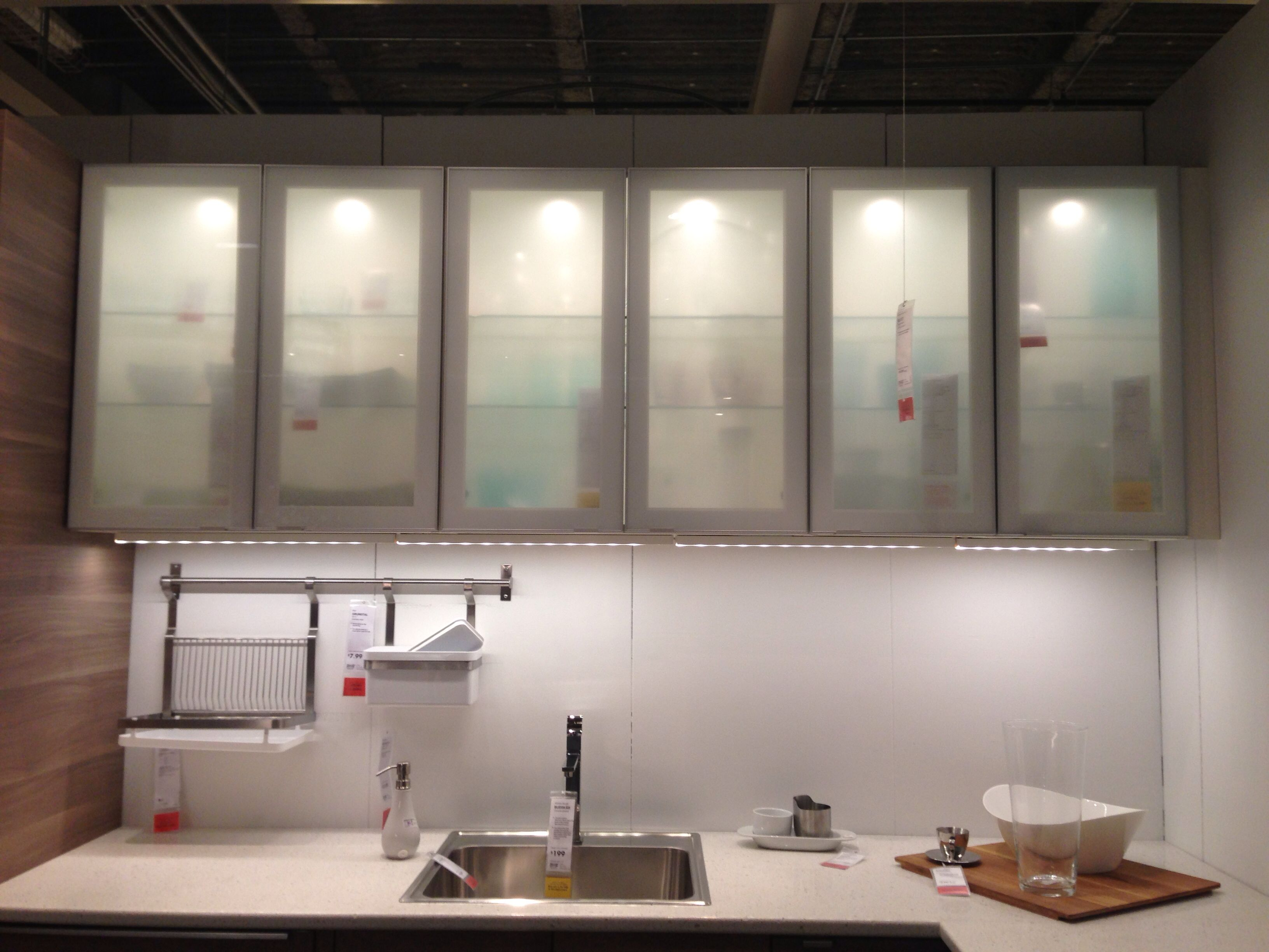 Ikea Cabinet Frosted Glass Kitchen