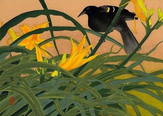 """Early Summer: Fox Lily and Cuckoo"" by Rakuzan"