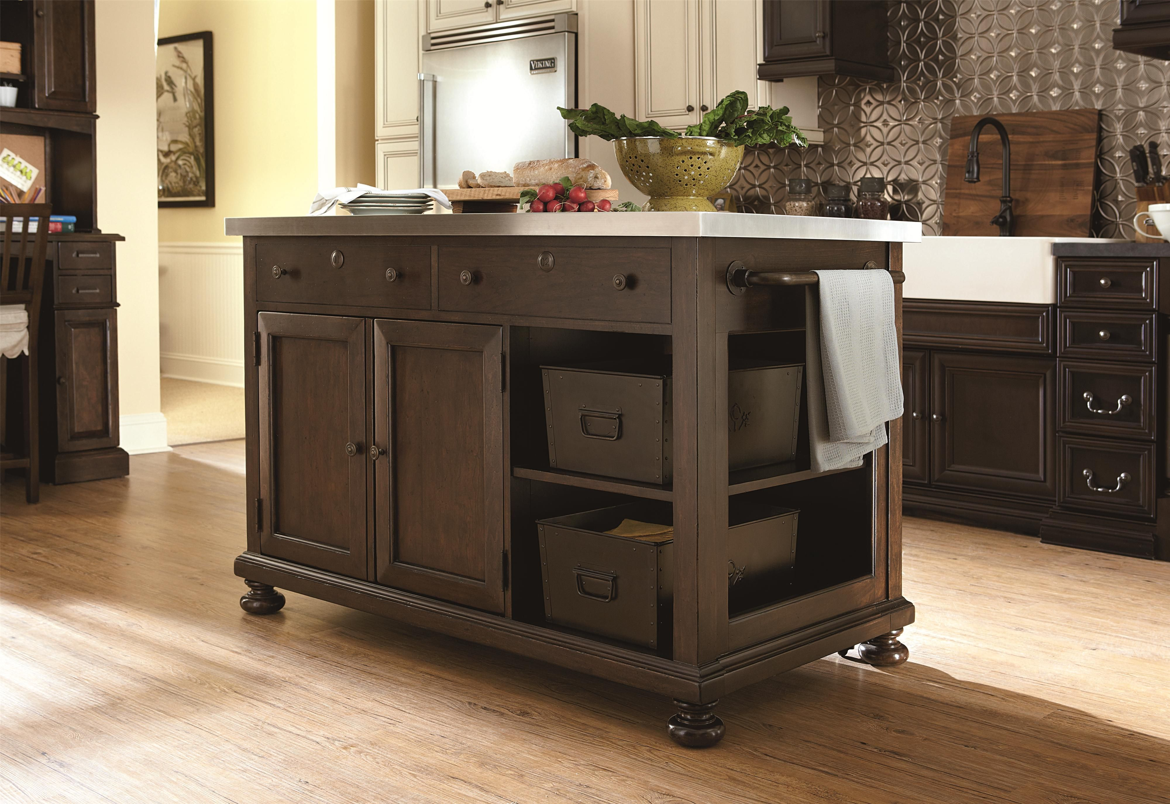 River House Kitchen Island With Slide Out Table By Paula Deen By Universal Wolf Furni Kitchen Island Furniture Broyhill Furniture Freestanding Kitchen Island