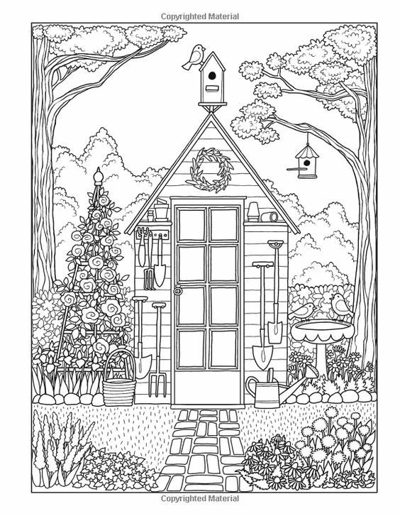 Coloring Pages By Stephanie Fleming Coloring Pages Adult Coloring Pages Garden Coloring Pages