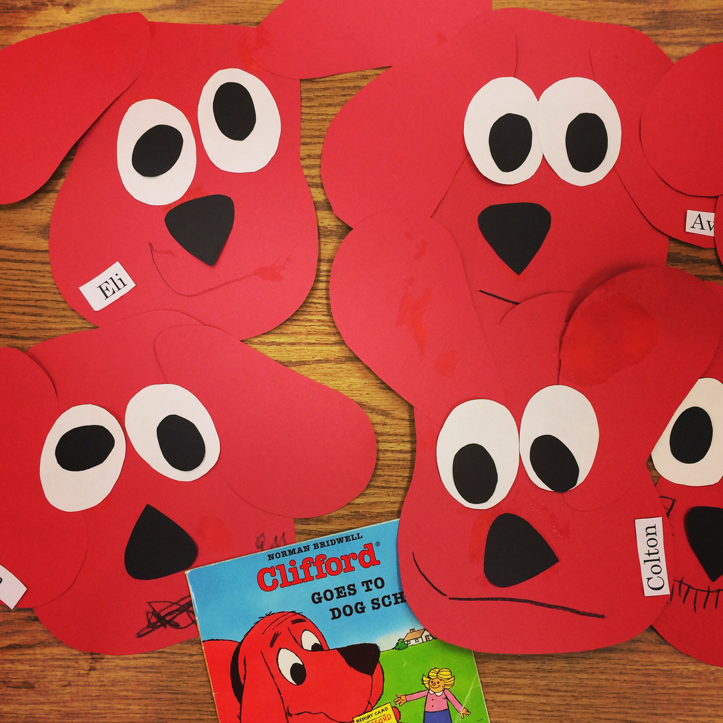 Clifford Craft Preschool Art Storybook Crafts Kindergarten Art